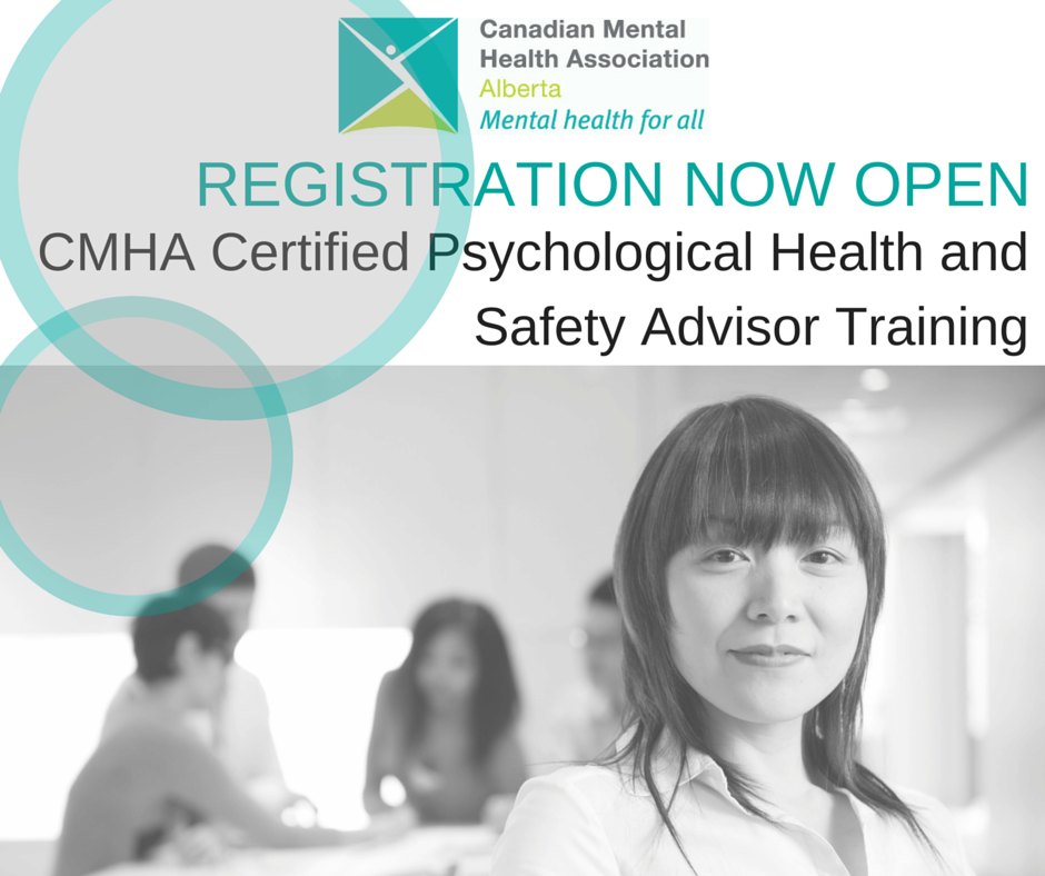 CMHA Certified Psychological Health and Safety Advisor Training (Edmonton)