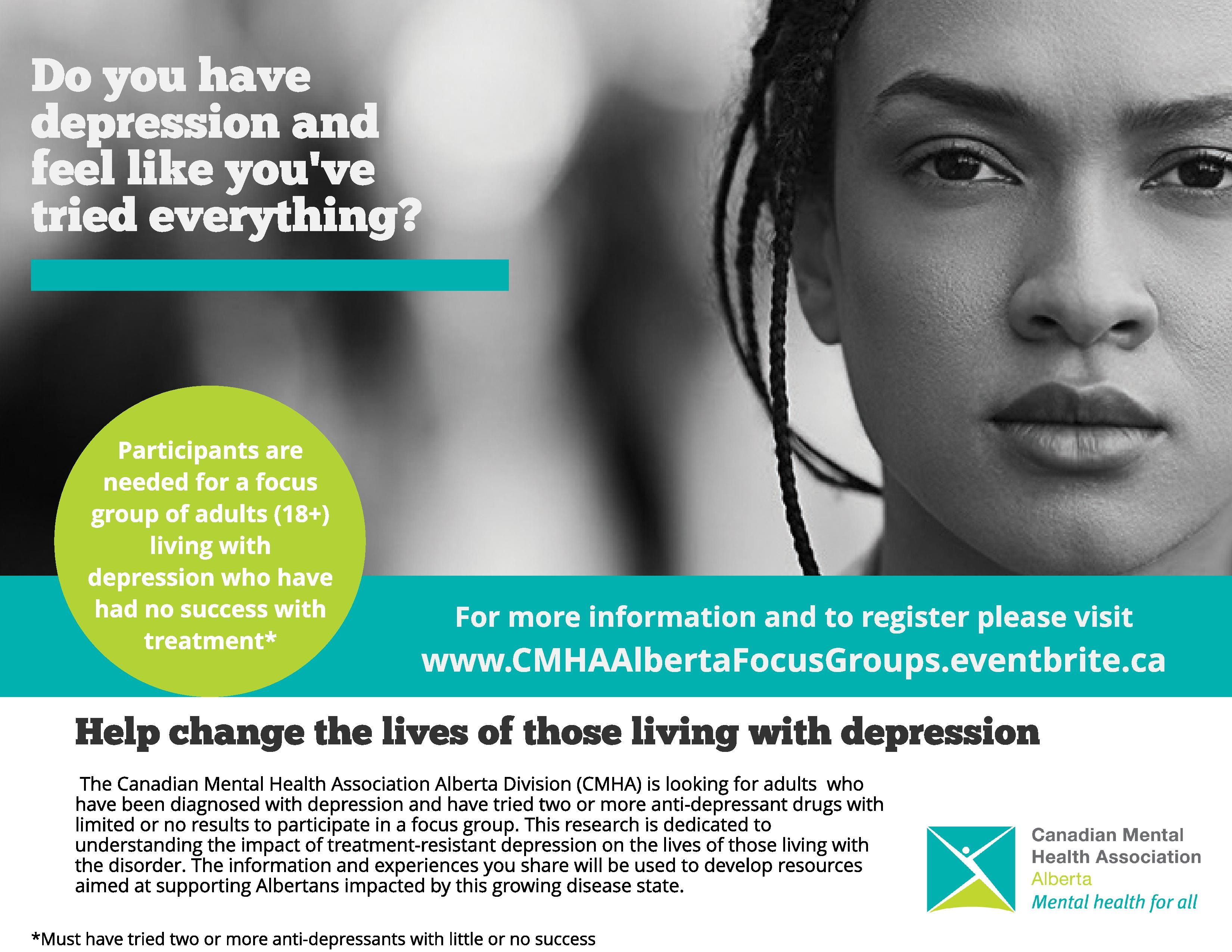 Have you been diagnosed with depression and had no success with treatment?