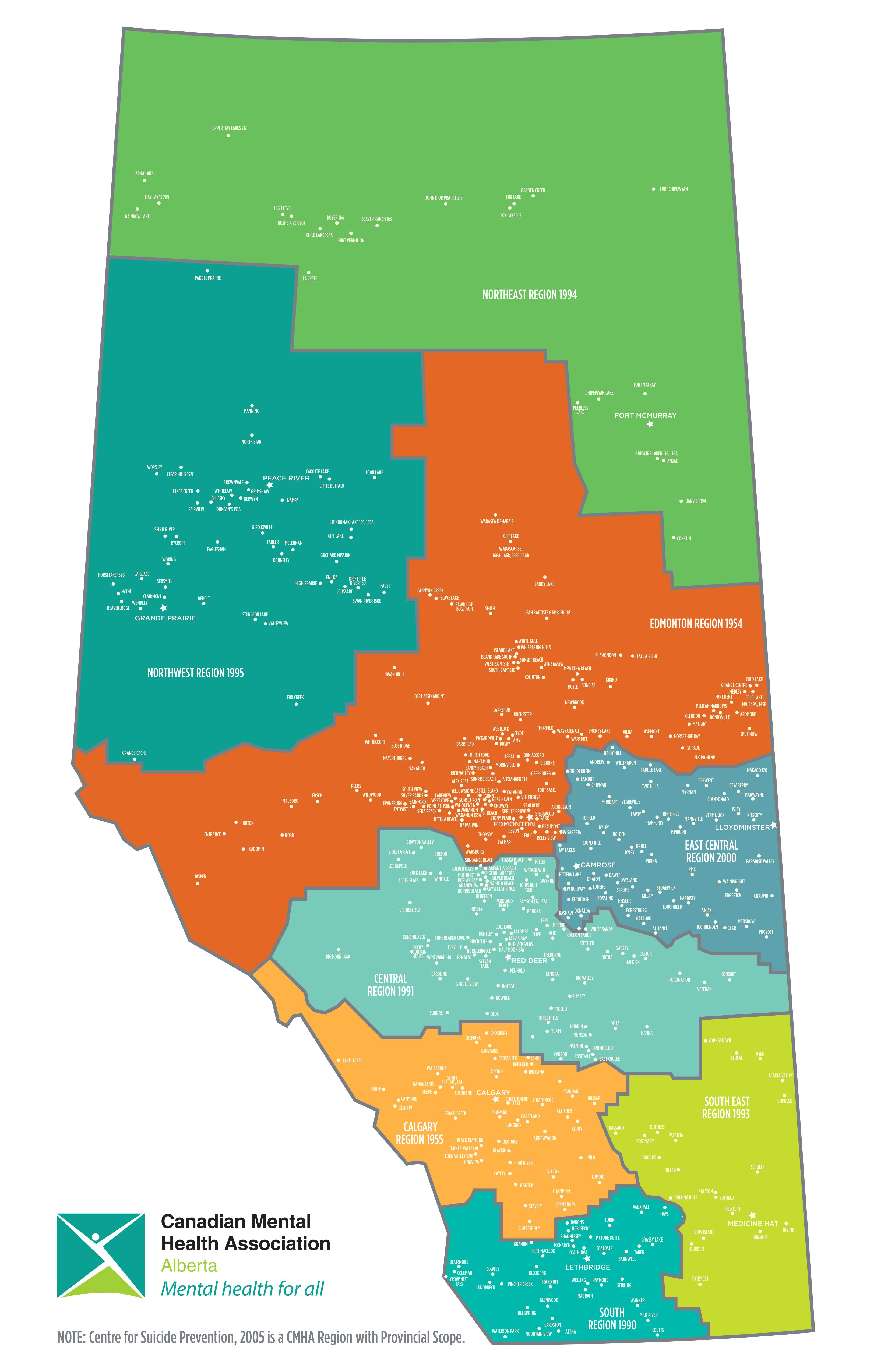 CMHA Alberta Locations