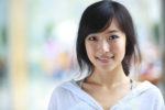 portrait of pretty young asian girl